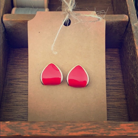 Pop of Colour! Red Retro Earrings